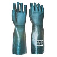 Double Dipped PVC Gauntlet 45cm (Green / XL / R)