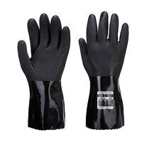 ESD PVC Chemical Gauntlet (Black / Large / R)