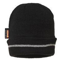 Reflective Trim Knit Hat Insulatex Lined (Black / ...