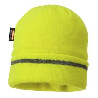 Reflective Trim Knit Hat Insulatex Lined (Yellow / R)