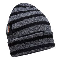 Striped Insulated Knit Cap (GreyBk / R)