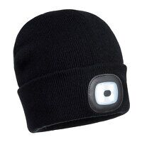 Rechargeable Twin LED Beanie (Black / R)