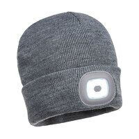 Rechargeable Twin LED Beanie (Grey / R)