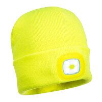 Beanie LED Head Light USB Rechargeable (Yellow / R)