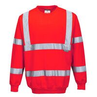 Hi-Vis Sweatshirt (Red / Large / R)