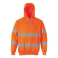 Hi-Vis Hooded Sweatshirt (Orange / XL / R)