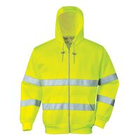 Hi-Vis Zip Front Hoodie (Yellow / Medium / R)