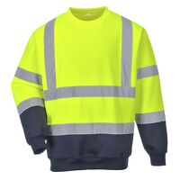 Two Tone Hi-Vis Sweatshirt (YeNa / Small / R)