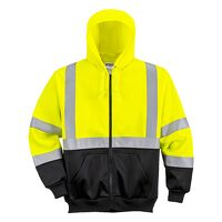 Hi-Vis Two-Tone Zipped Hoodie (YeBk / Large / R)