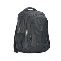Triple Pocket Backpack (Black / R)