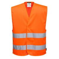 MeshAir Hi-Vis Two Band Vest (Orange / XX3X / R)