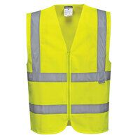 Hi-Vis Zipped Band & Brace Vest (Yellow / Large / ...