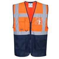 Hi-Vis Two Tone MeshAir Executive Vest (OrNa / XL ...