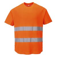 Mesh T-Shirt (Orange / Large / R)