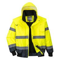 Hi-Vis Contrast Bomber Jacket (YeNa / Small / R)