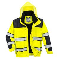 Hi-Vis Classic Bomber Jacket (YeBk / Small / R)