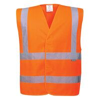 Hi-Vis Two Band & Brace Vest (Orange / SM / R)