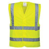 Hi-Vis Two Band & Brace Vest (Yellow / X...