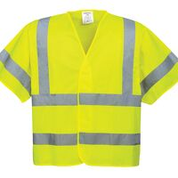 Hi-Vis Short Sleeved Vest (Yellow / LXL / R)