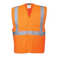 Hi-Vis One Band & Brace Vest (Orange / SM / R)