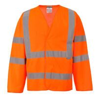 Hi-Vis Two Band & Brace Jacket (Orange / LXL / R)