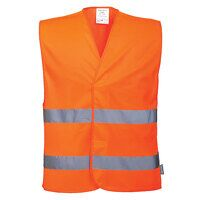 Hi-Vis Two Band Vest (Orange / LXL / R)