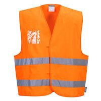 Hi-Vis Vest - Dual ID Holder (Orange / LXL / R)