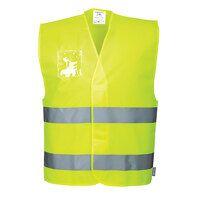 Hi-Vis Vest - Dual ID Holder (Yellow / LXL / R)