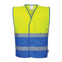 Hi-Vis Two Tone Vest (YeRb / LXL / B)