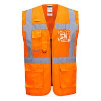 Madrid Executive Mesh Vest (Orange / XXL / R)