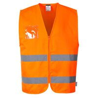 Hi-Vis Polycotton Vest (Orange / Large / R)