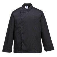 Cross-Over Chefs Jacket (Black / Medium / R)