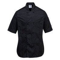 Rachel Ladies Short Sleeve Chefs Jacket (Black / X...