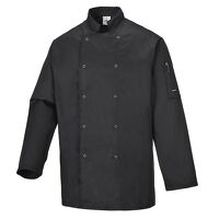 Suffolk Chefs Jacket (Black / Large / R)
