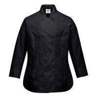 Rachel Ladies Long Sleeve Chefs Jacket (Black / La...
