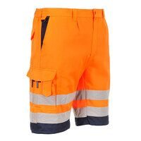 Hi-Vis Poly-cotton Shorts (OrNa / Medium...