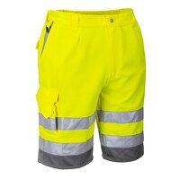 Hi-Vis Poly-cotton Shorts (YeGrey / Small / Y)
