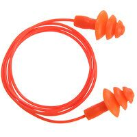 Reusable Corded TPR Ear Plug ( 50 pairs) (Orange /...