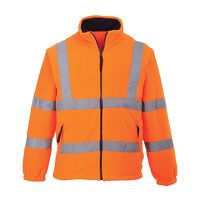 Hi-Vis Mesh Lined Fleece (Orange / XL / R)