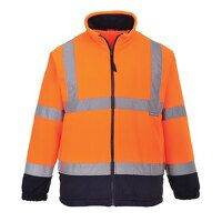 Hi-Vis Two Tone Fleece (OrNa / Large / R)