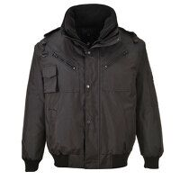 3-in-1 Bomber Jacket (Black / Small / R)