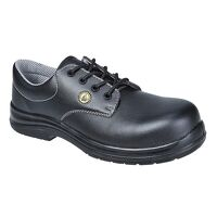 Portwest Compositelite ESD Laced Safety Shoe S2 (Black / 42 / R)