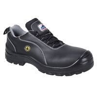 Portwest Compositelite ESD Leather Safety Shoe S1 (Black / 46 / R)