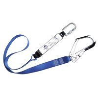 Single Webbing Lanyard With Shock Absorber (Royal / R)