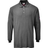 Flame Resistant Anti-Static Long Sleeve Polo Shirt...