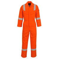 Flame Resistant Super Light Weight Anti-Static Coverall 210g (Orange / XSmall / R)