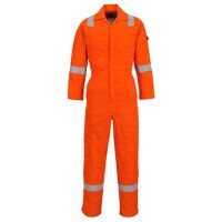 Flame Resistant Light Weight Anti-Static Coverall 280g (Orange / 4XL / R)