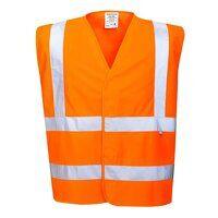 Hi-Vis Vest- Flame Resistant (Orange / 4...