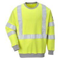 Flame Resistant Anti-Static Hi-Vis Sweatshirt (Yel...