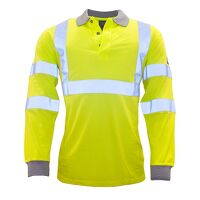 Flame Resistant Anti-Static Hi-Vis Long Sleeve Pol...